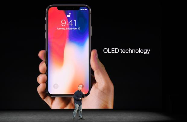 Phil Schiller, senior vice president of worldwide marketing at Apple Inc., speaks about the iPhone X during an event at the Steve Jobs Theater in Cupertino, California, U.S. Photo: Bloomberg