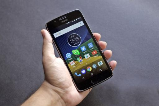 Moto G5 phone with WhatsApp