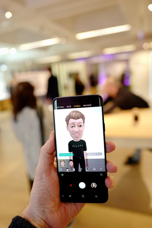 Samsung's augmented reality emoji feature in action