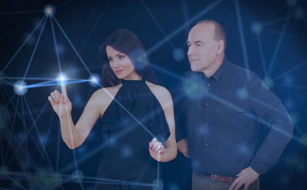 Nuritas CSO and founder Dr Nora Khaldi and CEO Emmet Browne — the high-tech food analytics firm raised €16.5m in December