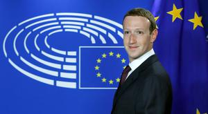 Facebook CEO Mark Zuckerberg at the European Parliament. Picture: Reuters