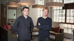 John and Patrick Collison of Stripe