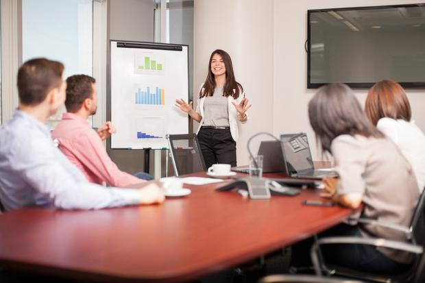 You've got roughly 90 words to explain what you do during a presentation. Stock image