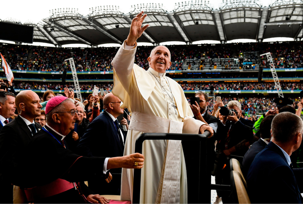 The arrival of Pope Francis in Croke Park was a case of enjoying the moment, not living it through a smartphone lens