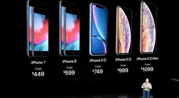 Apple's latest range of mobile phones, the iPhone Xr, Xs and Xs Max
