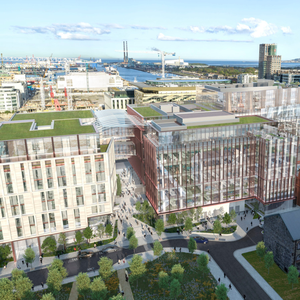 An artist's impression of the proposed Salesforce Tower in Dublin. Photo: PA