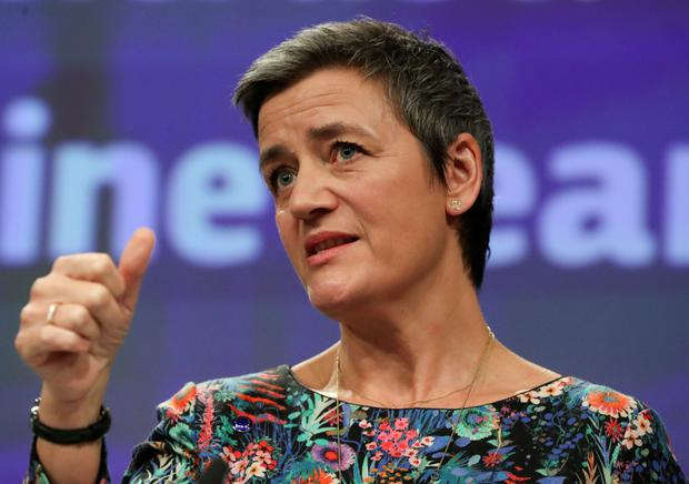 Ruling: EU competition commissioner Margrethe Vestager said Google's restrictions were illegal under EU anti-competition rules. Photo: Reuters