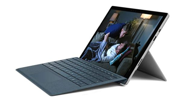 Powerful: the Microsoft 2-in-1 Surface Pro 6 has a fantastic screen for watching TV programmes