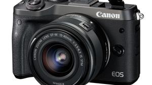 A used Canon EOS M6 with a basic 15-45mm lens costs €299.