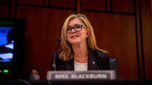 Republican Senator Marsha Blackburn said she had been in contact with a whistleblower in the company. Photo: Hilary Swift/The New York Times/Bloomberg