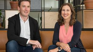 Intercom's chief strategy officer and co-founder Des Traynor and CEO Karen Peacock