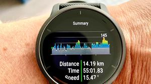 Garmin's Venu 2 uses its amoled display to show you how and where you've trained. Photo: Adrian Weckler