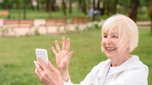 Chat boom: Many elderly people are getting used to chatting to their children and grandchildren using technology.