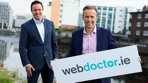 Alan Foy (left) Chairman and Managing Partner of VentureWave Capital and David Crimmins, CEO of WebDoctor