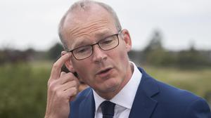 Defence and Foreign Affairs Minister Simon Coveney said his phone had been hacked. Picture by Colin Keegan / Collins Dublin