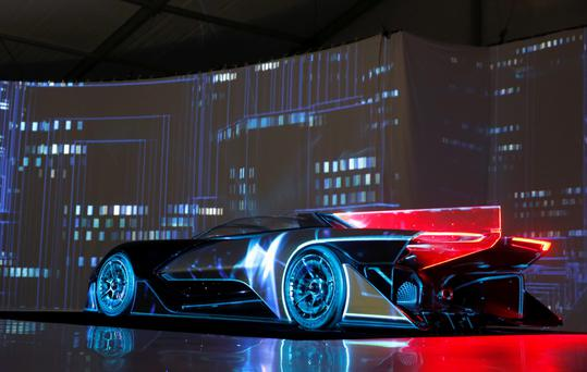 The Faraday Future FFZERO1 electric concept car claims to do 0-100km in just under three seconds. Photo: Reuters.