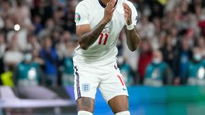 England footballer Marcus Rashford was racially abused on Twitter after missing his penalty in the Euro 2020 final. Photo: Getty