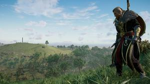 A scene from the latest Assassin's Creed game played out in ancient Ireland