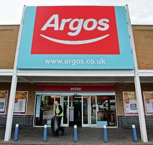 Sales at Argos rose