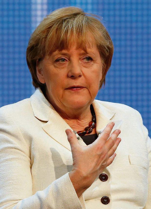 German Chancellor Angela Merkel attends a conference on Europe at the German foreign ministry in Berlin May 16, 2013. REUTERS/Fabrizio Bensch (GERMANY - Tags: POLITICS)