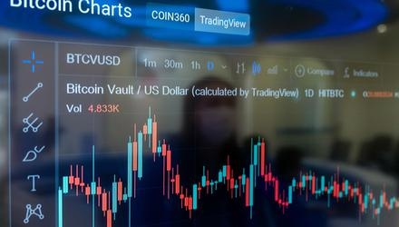 Bitcoin slid about 5.5pc, while ether plunged almost 13pc. Photo: Paul Yeung/Bloomberg