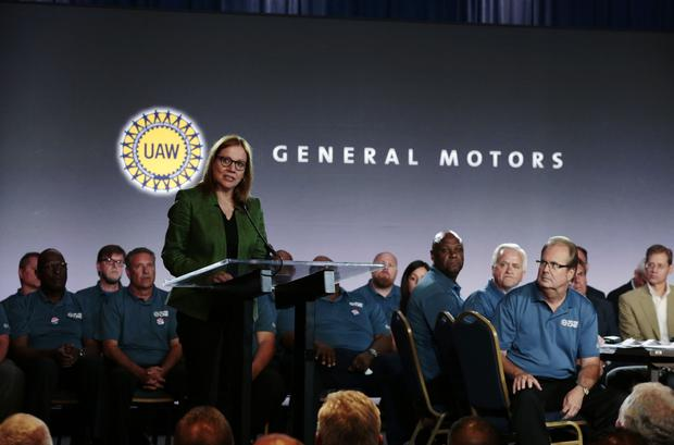 Environment: GM chief Mary Barra is now going green after backing Donald Trump's lawsuit on emissions. Photo: Jeff Kowalsky/Bloomberg