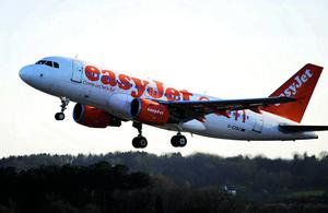 File photo dated 21/04/10 of a plane from the low-cost airline easyJet, who announced a big drop in winter losses today as Britons fleeing the country's deep freeze and capacity cuts by rivals helped boost passenger numbers. PRESS ASSOCIATION Photo. Issue date: Wednesday May 15, 2013. See PA story CITY Easyjet. Photo credit should read: Barry Batchelor/PA Wire