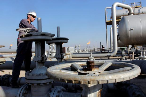 An oil worker on a rig in the Middle East