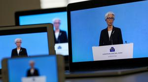 Coordinated stance: Christine Lagarde said governments could not afford to relax efforts. Photo: Chris Ratcliffe/Bloomberg