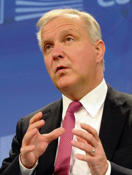 European Economic and Monetary Affairs Commissioner Olli Rehn says he doesn't think it's fair and just that (the IMF) is trying to wash its hands and throw dirty water on European shoulders