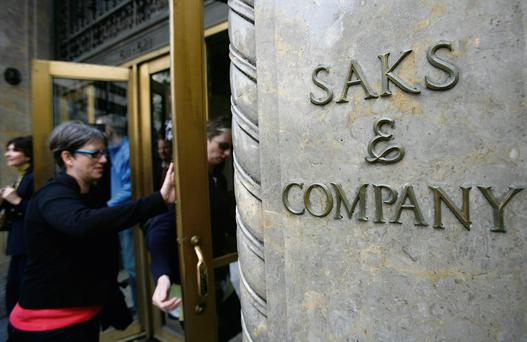 Saks' Fifth Avenue flagship store in New York, soon to be the property of Canada's Hudson's Bay Co