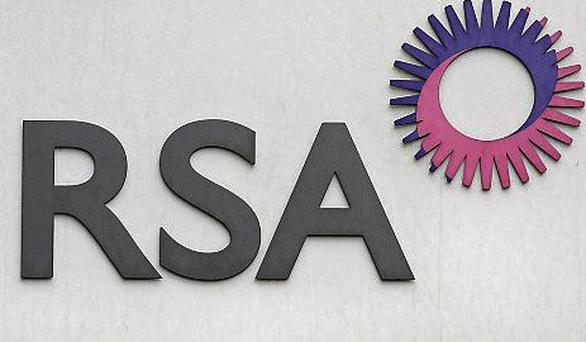 File photo dated 09/08/13 of the RSA logo as the insurance group has suspended the chief executive of its Irish business and two other senior staff after a routine internal audit uncovered