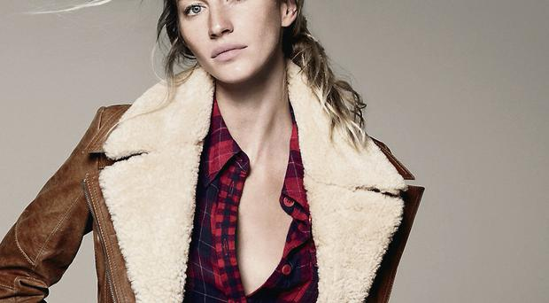Supermodel Gisele Bundchen wears clothes from the Esprit range