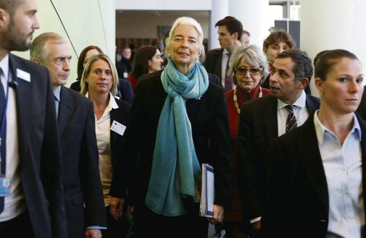 IMF managing director Christine Legarde