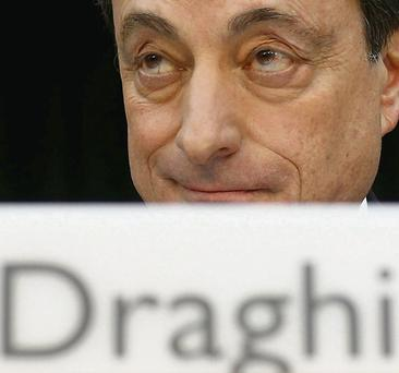 ECB President Mario Draghi said the risks for the euro are on the downside. Reuters