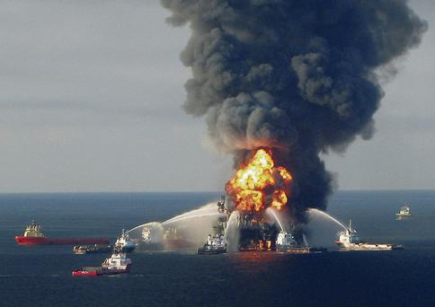 BP's Deepwater Horizon oil spill in 2010. REUTERS/US COASTGUARD