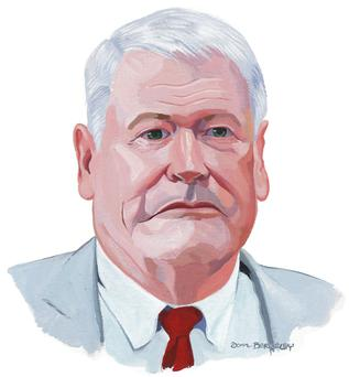 John Malone illustration by Don Berkeley