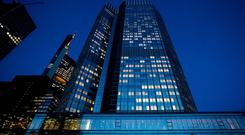 The headquarters of the European Central Bank (ECB) in Germany.