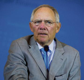 German finance minister Wolfgang Schaeuble