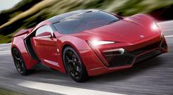 SUPERCAR: The €3m Lykan HyperSport has a top speed of 390kph