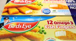 Packets of Birds Eye frozen fish fingers
