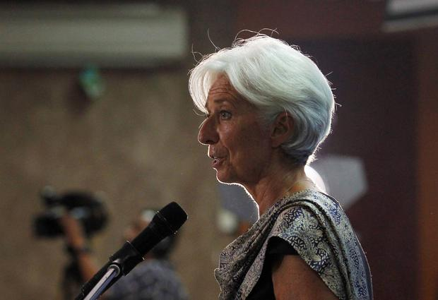 IMF chief Christine Lagarde in Indonesia yesterday