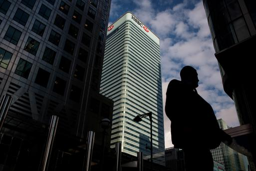 The HSBC Holdings Plc headquarters sits in the Canary Wharf business, financial and shopping district of London. Photo: Bloomberg