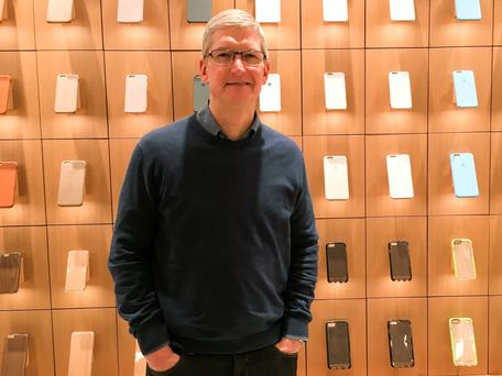 Tim Cook, chief executive of Apple, which has submitted written evidence to a committee in the Houses of Parliament. Photo: Reuters