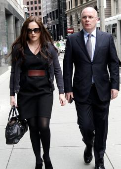 STANDING TOGETHER: David Drumm, former chief executive of Anglo Irish Bank, and his wife Lorraine arriving at the US Bankruptcy Court. Photo: Chitose Suzuki