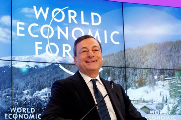 'We have the determination, and the willingness and the capacity of the Governing Council, to act and deploy these instruments,' ECB president Mario Draghi told the World Economic Forum. Photo: Ruben Sprich/Reuters