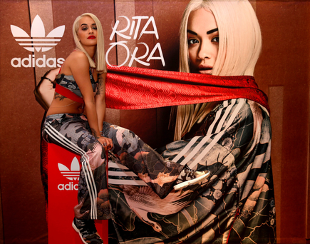 Rita Ora launches her adidas Originals Rita Ora SS16 collection at the Originals store at Dubai Mall last month