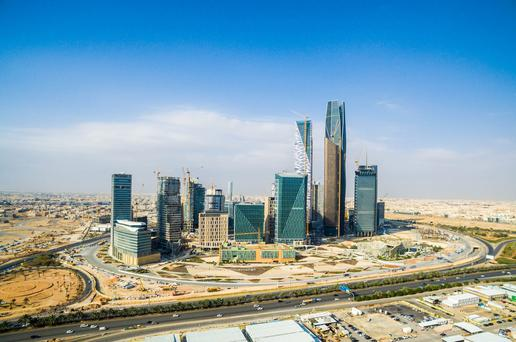 Construction work in the capital, Riyadh. Photo: Bloomberg