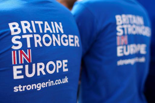 Supporters of the UK remaining in the EU canvassing in England