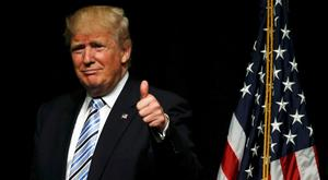 Republican U.S. presidential candidate Donald Trump is heading for a showdown with Clinton. Photo: Reuters